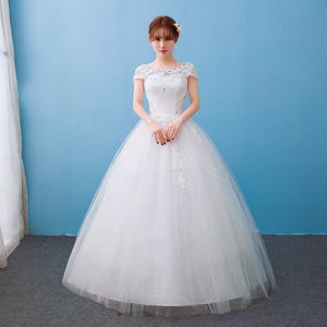 2018 Appliques Wedding Dresses Hot Sale Elegant Princess Adjust Lace Three Quarter Sleeve Bridal Gowns Vestidos De Noiva - Smoulder Products