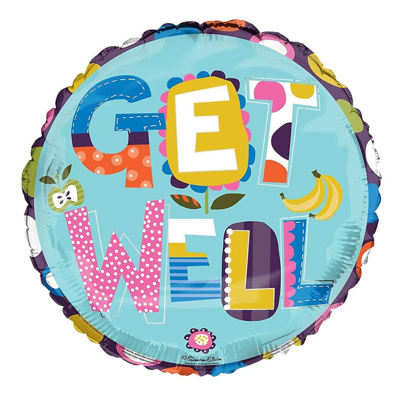 Get Well Soon Text 18'' Foil Balloon