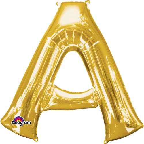 Any Letter Gold SuperShape Foil Balloon