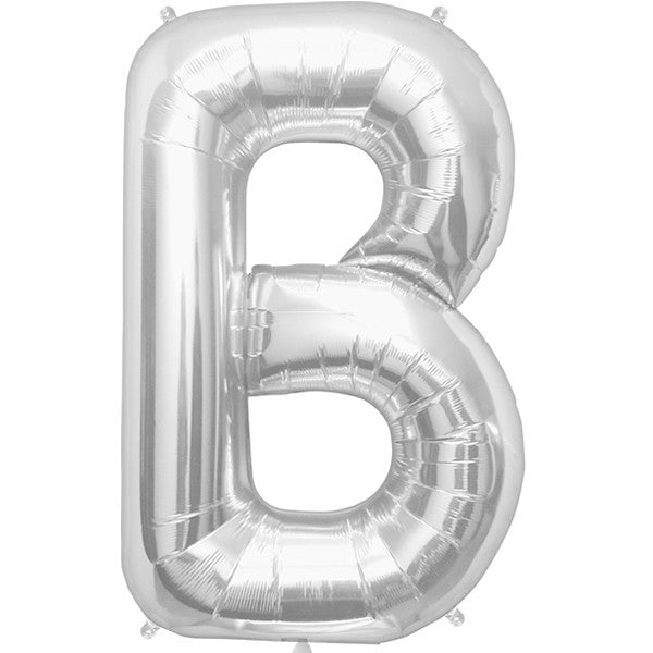 Any Letter Silver SuperShape Foil Balloon