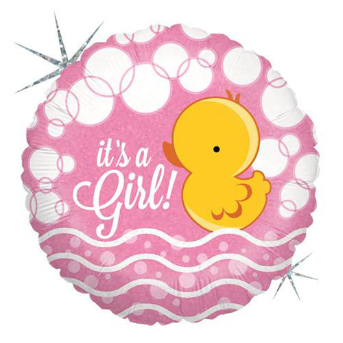 New Baby Girl 18'' Foil Balloon