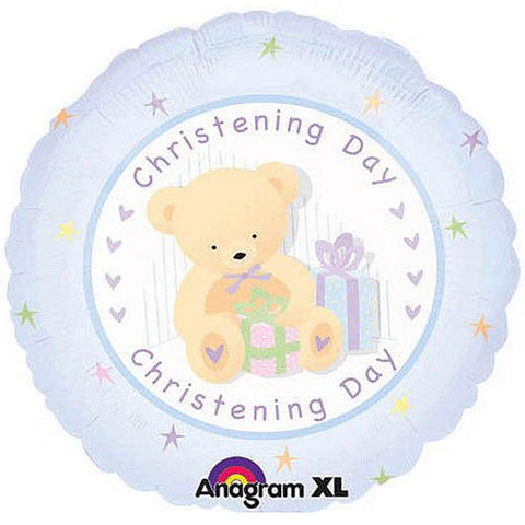 Christening Day Blue Foil Balloon 18in