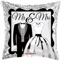 Mr & Mrs Wedding Balloon Bouquet