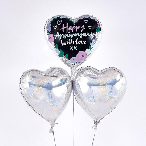 Happy Anniversary Romantic Balloon Bouquet