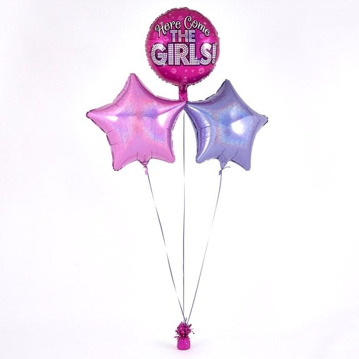 Here Come the Girls Pink Balloon Bouquet