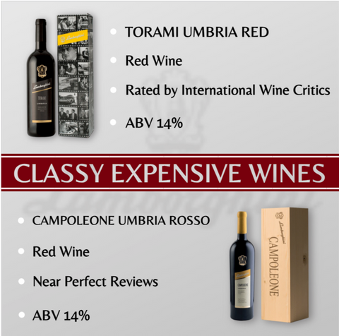 Expensive wine for the rich and lavish