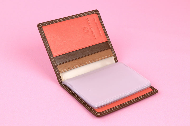 Sophie Genuine Leather Credit Card Holder
