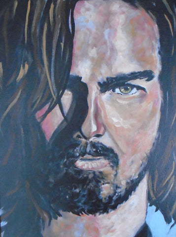 Portrait painting of Tom Cruise.