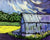 Windy Day, Old Barn by Nancy Ruhl. Image of a white barn in the wind.