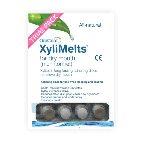 XyliMelts for Dry Mouth (Slightly Sweet) TRIAL PACK 4 Discs - image