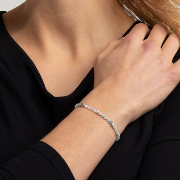 Armband facettierter Morganit