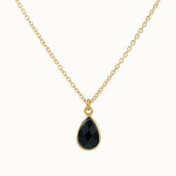 SOL DROPS Onyx - Kette golden