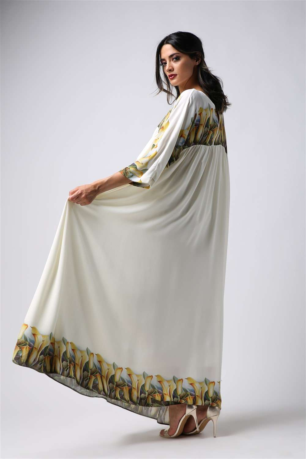 Nightgown - White Tulip - Empire Seam Cut