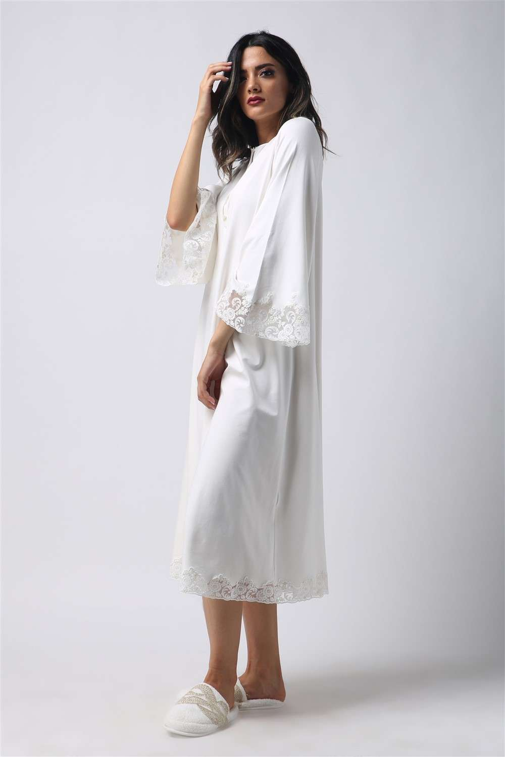 Cotton Nightgown - Goldish Sunkissed