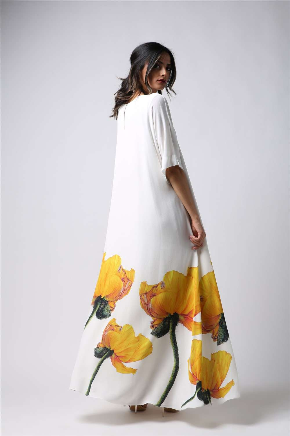Nightgown - Yellow Tulip - Free Arm