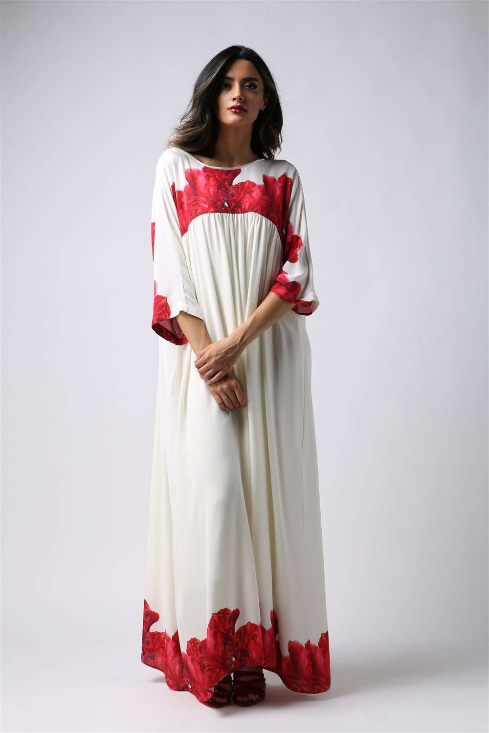 Nightgown - Flame - Empire Seam Cut