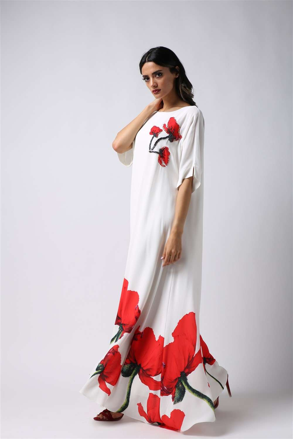 Nightgown - Red Tulip - Free Arm