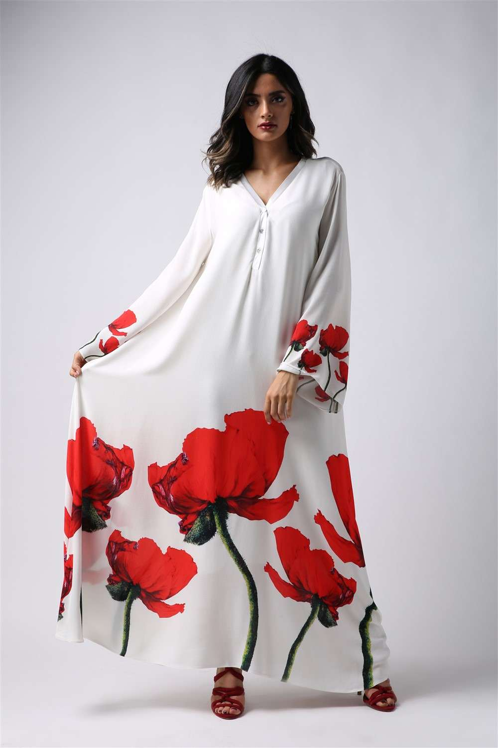 Nightgown - Red Tulip - Assemblied Arm