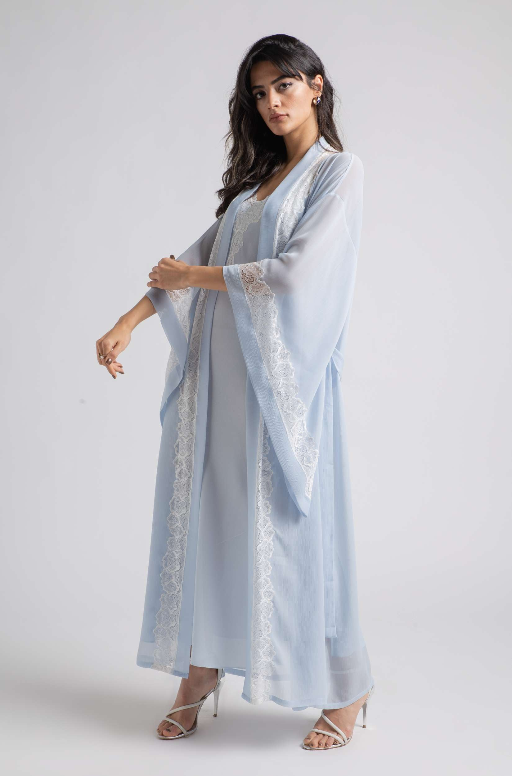 Robe Set - Baby Blue Wavy Soft