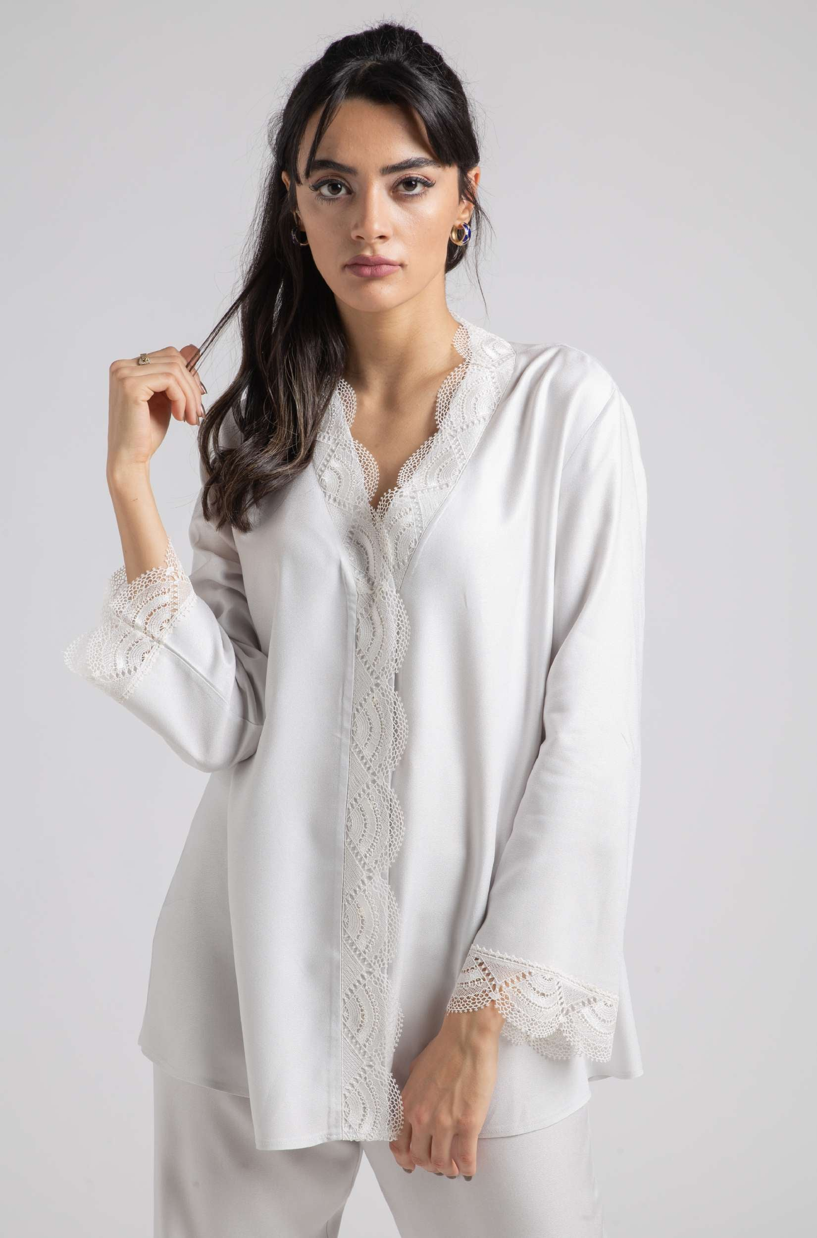 Pajama Set - Light Grey Lucy