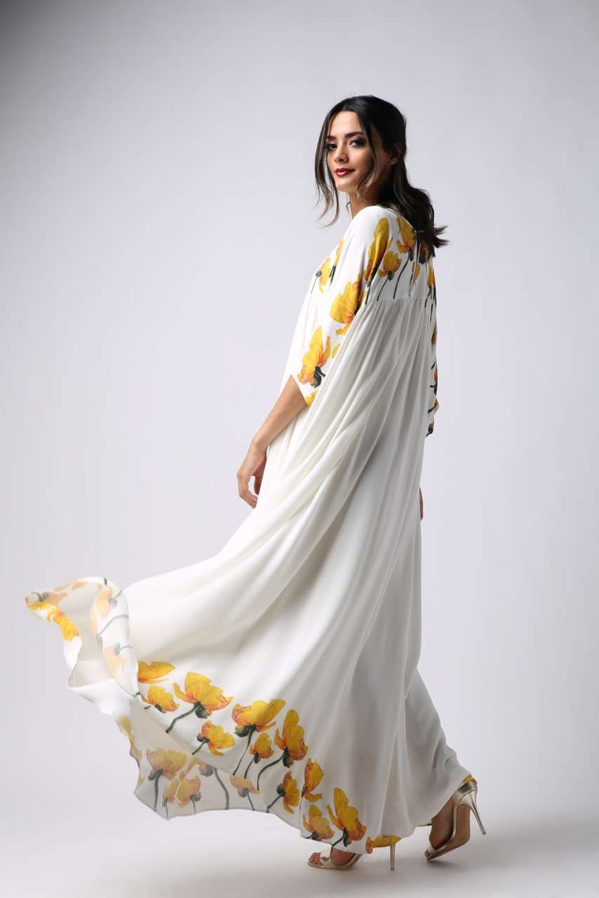 Nightgown - Yellow Tulip - Empire Seam Cut