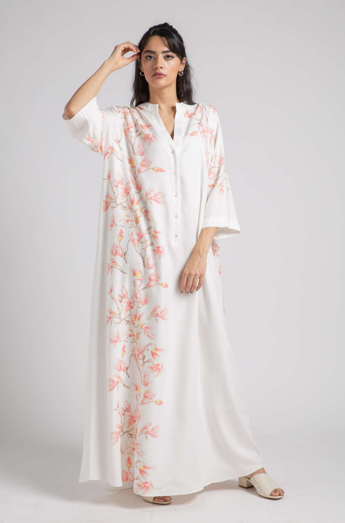 Rayon Nightgown Off White - Sakura