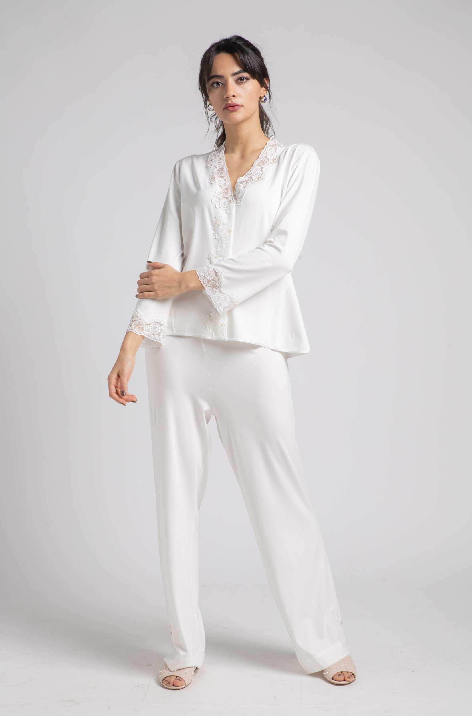 Cotton Pajama - Off White Pajama