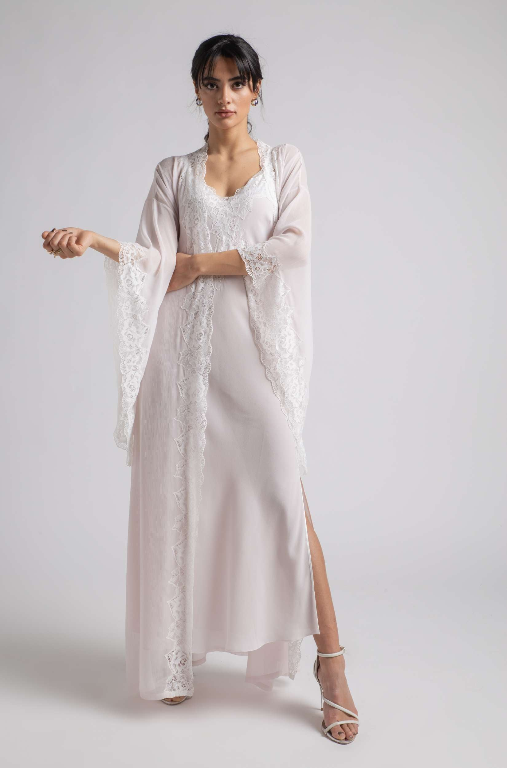 Robe Set - Baby Pink Wavy Soft
