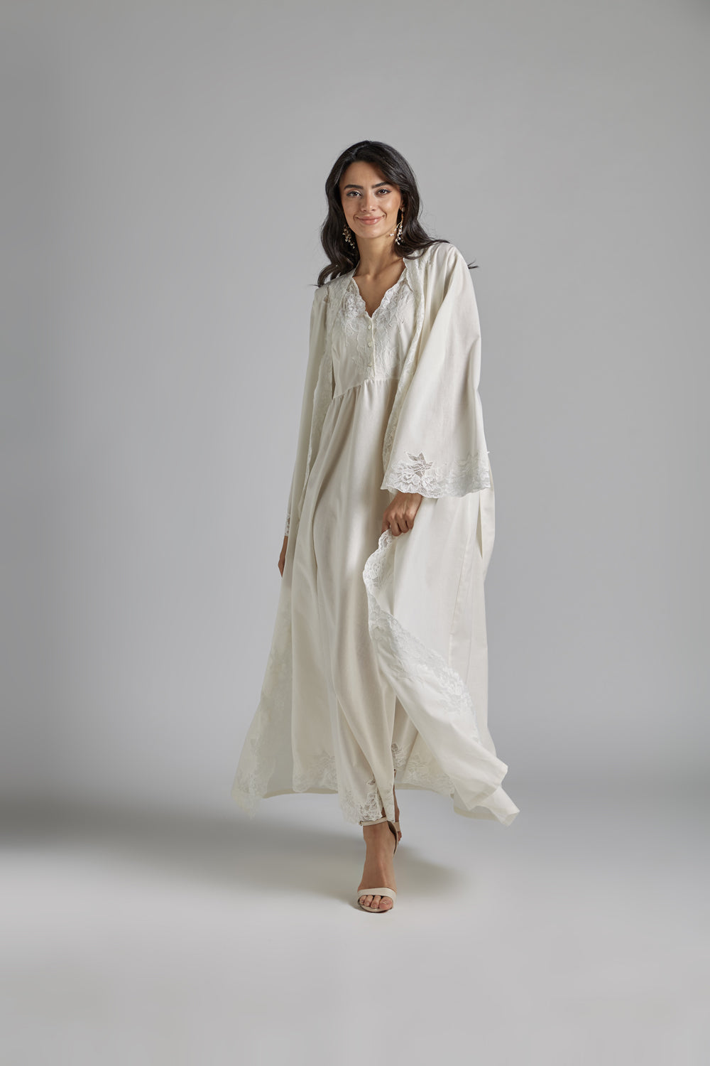 Cotton Vual Honey Robe Set - Reina