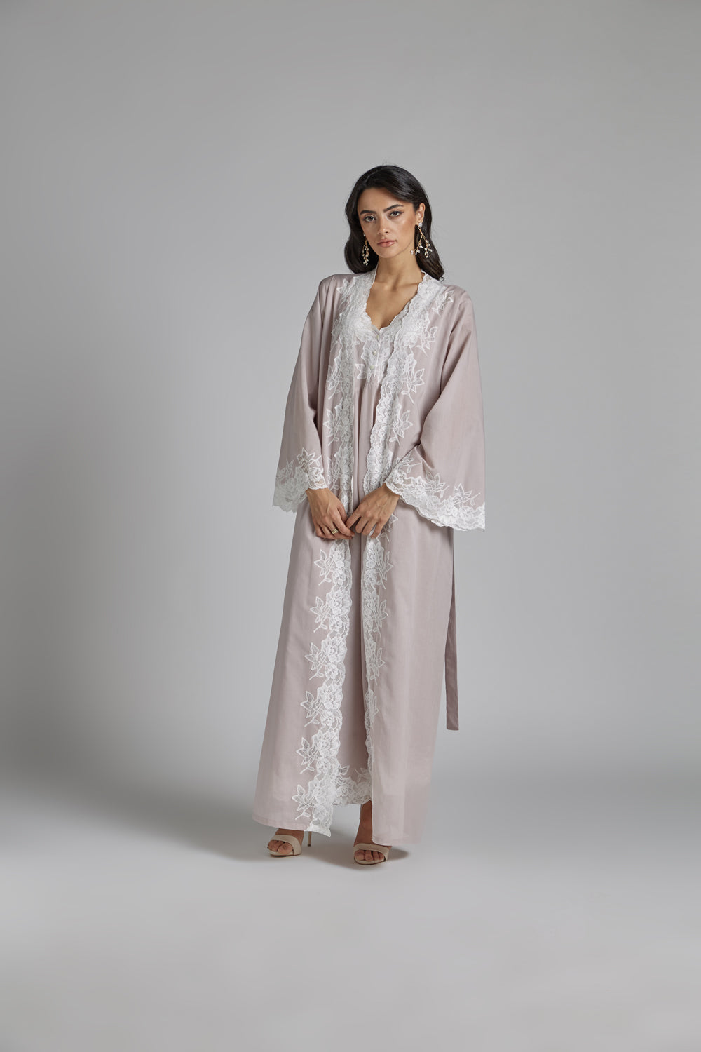 Cotton Vual Powder Robe Set - Reina