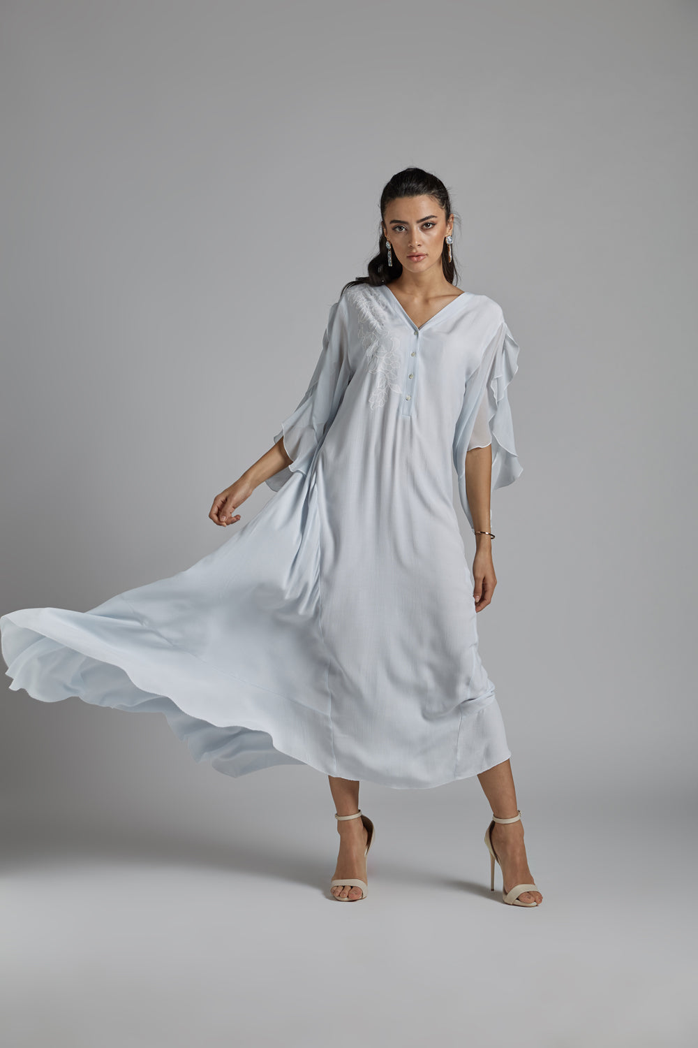 Silk Chiffon Baby Blue Dress - Oh My!