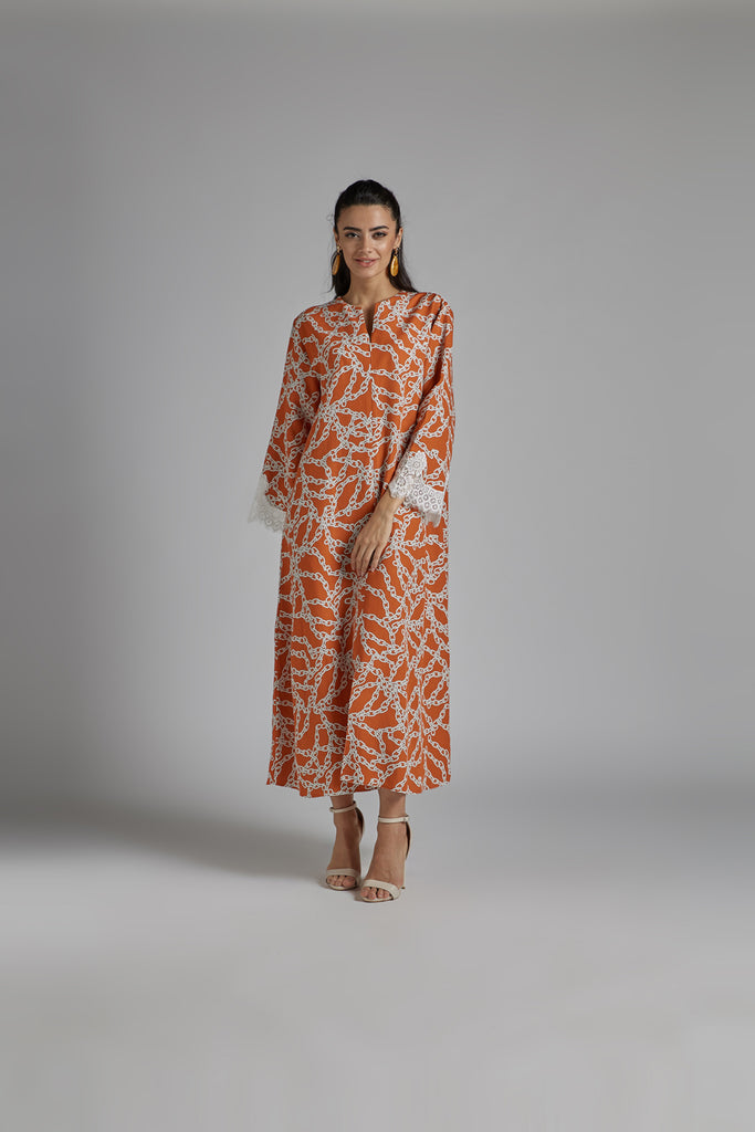 Linen Dress Printed - Maia