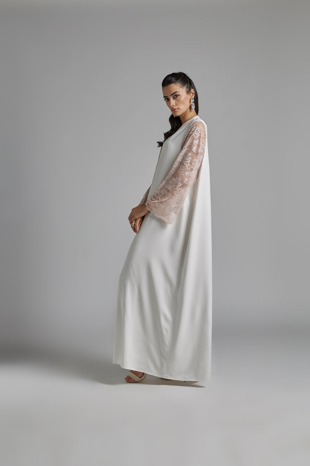 Nightgown Off White and Light Pink - Lora