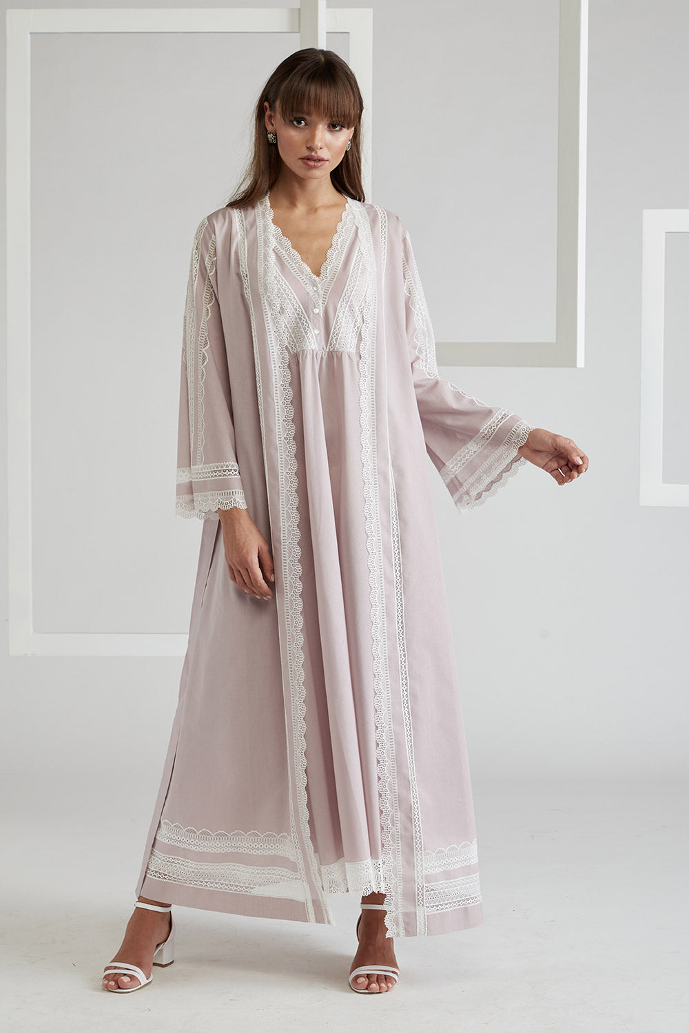 Voile Powder Robe Set- Lady Sheer
