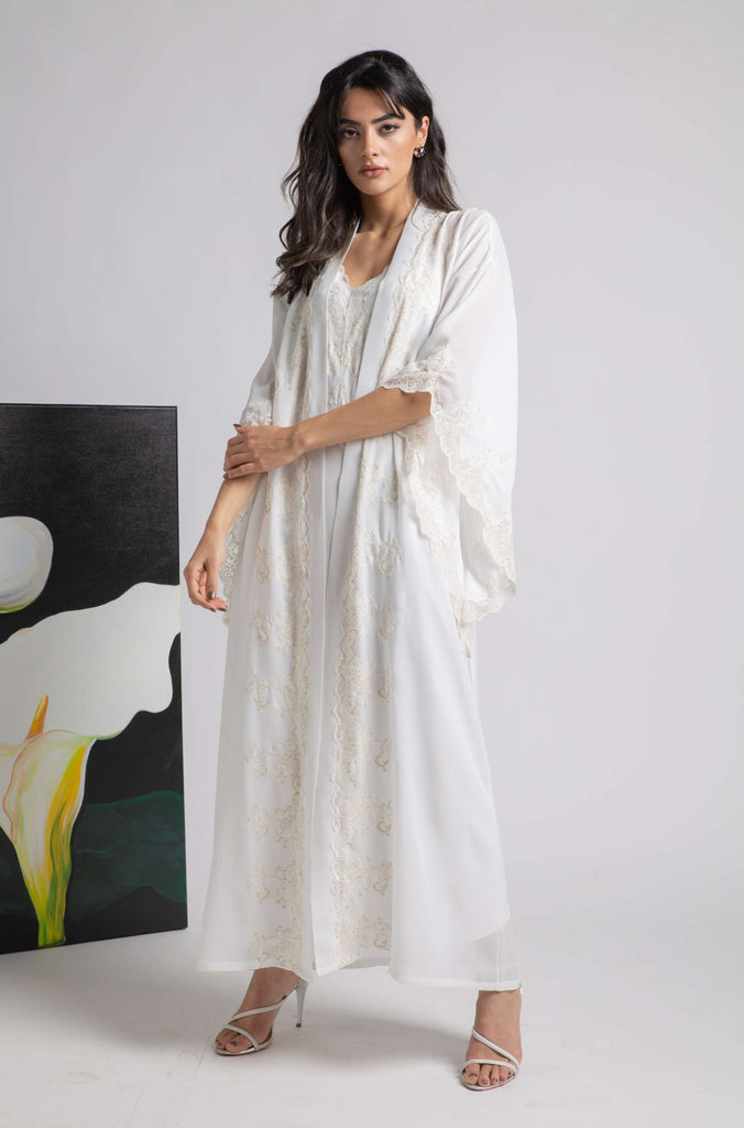 Robe Set - Off White Marigold