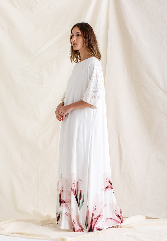 Linen Dress Printed - Lilly Pinko