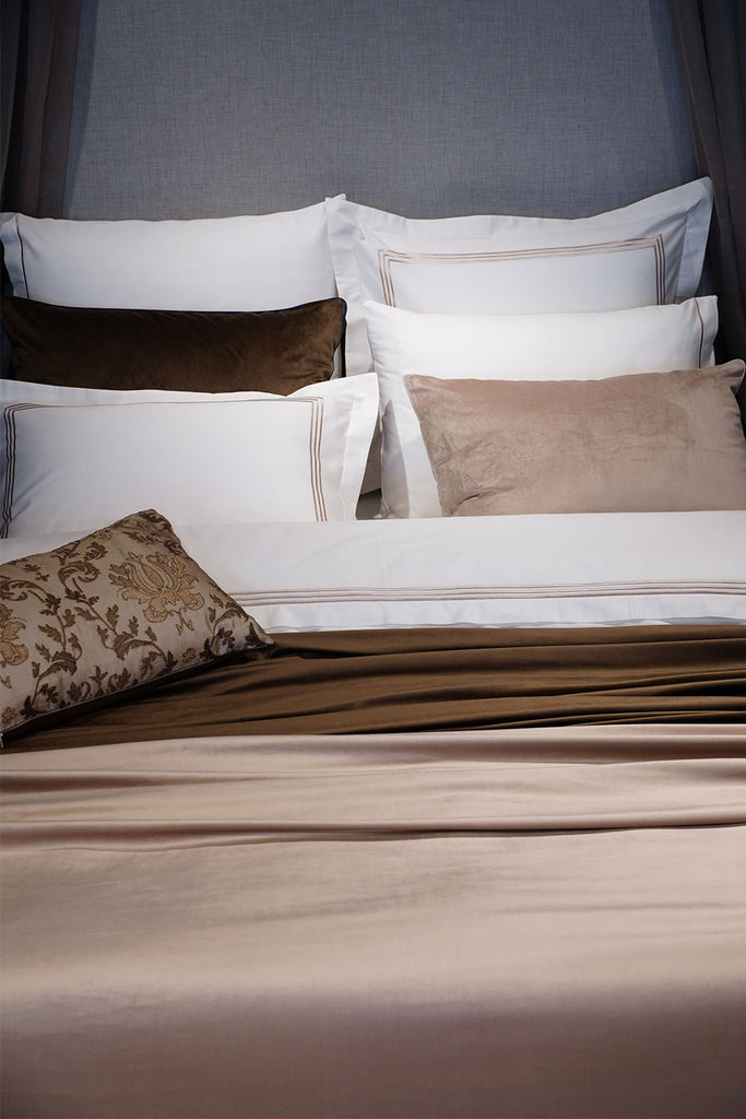 Organic Cotton Bedding Set Beige - Café Au Lait