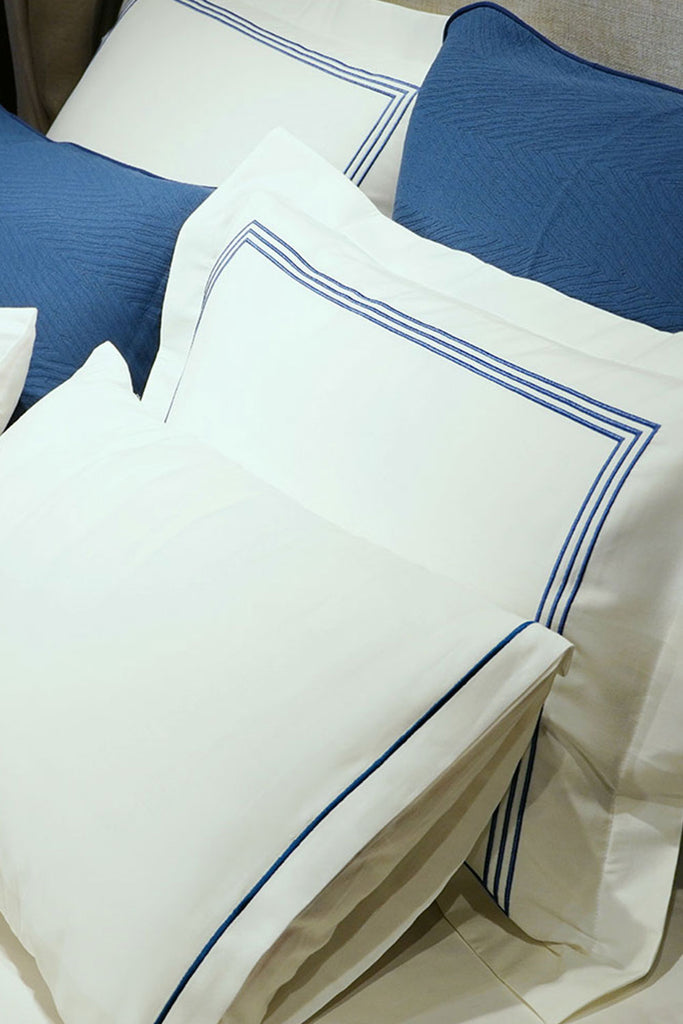 Organic Cotton Bedding Set Navy - Azur