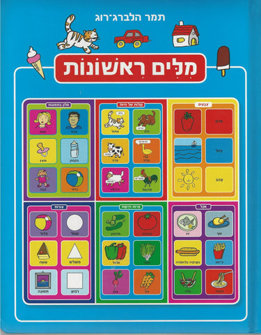 First Words in Hebrew Educational Dictionary Book
