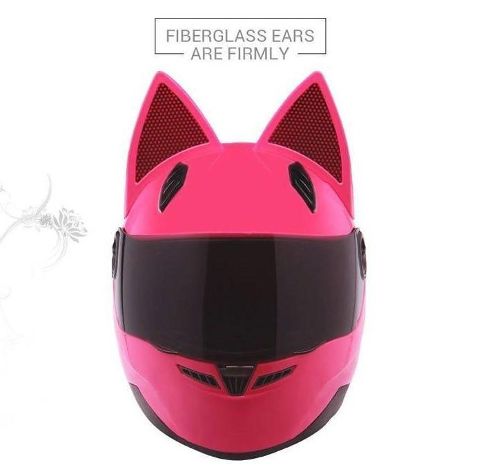 Full Face Motorcycle Cat Ear Helmet ( Buy 2 Get Extra 10% Off )