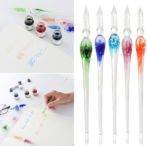 Glass Calligraphy Pen Set with Ink and Pen Rest ( Buy 2 Get Extra 10% Off )