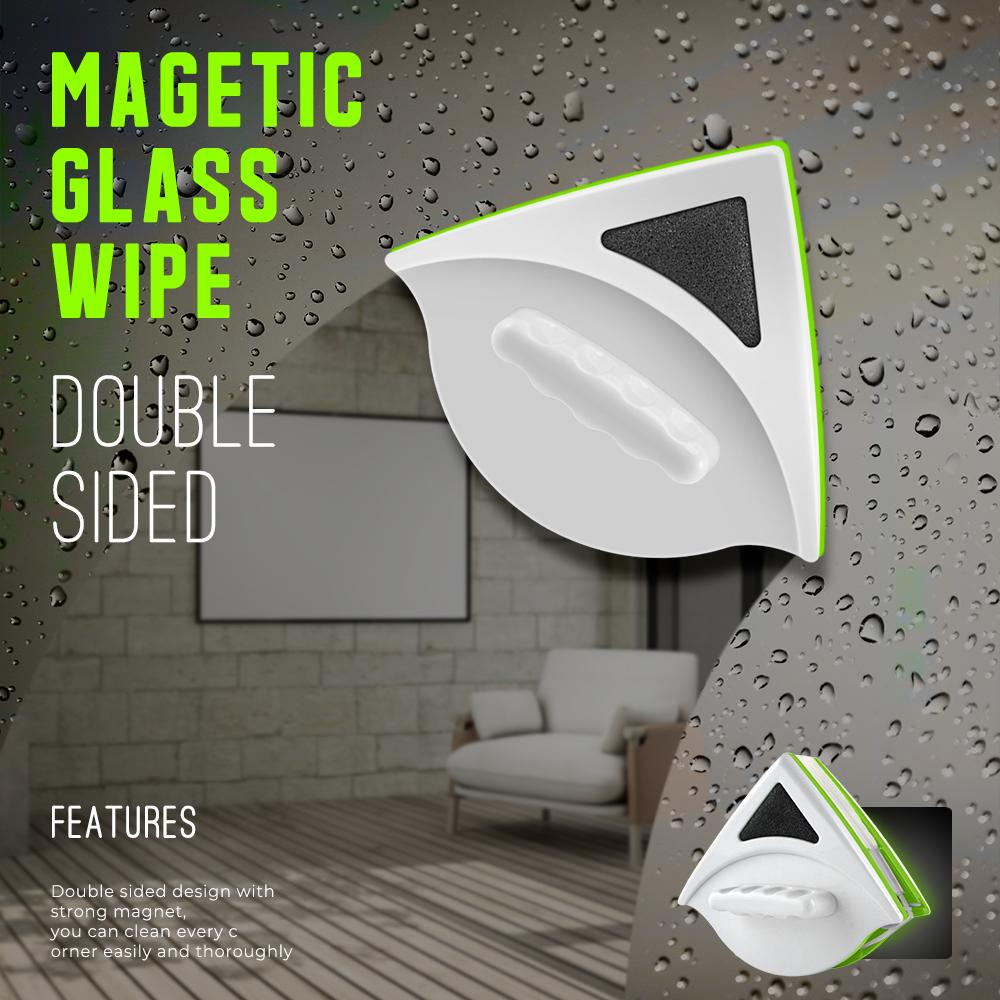 Household Double Sided Magnetic Glass Wipe Brush ( Buy 2 Get Extra 10% Off )