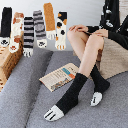 Winter Cat Claws Cute Thick Warm Sleep Floor Socks ( Buy 2 Get Extra 10% Off )