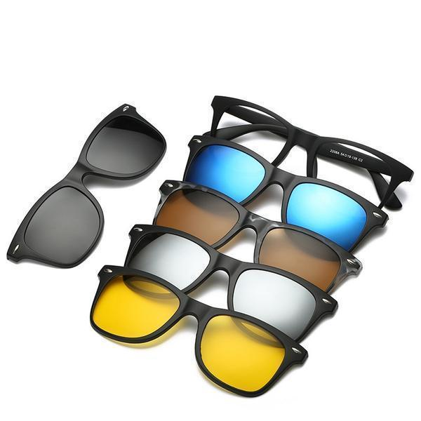 5 in 1 Swappable Sunglasses ( Buy 2 Get Extra 10% Off )