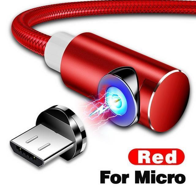 Indestructible Magnetic 3-in-1 Cable ( Buy 2 Get Extra 10% Off ) TopViralPick For Micro USB Red 1m (3.3ft)