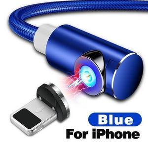 Indestructible Magnetic 3-in-1 Cable ( Buy 2 Get Extra 10% Off ) TopViralPick For iPhone Blue 1m (3.3ft)