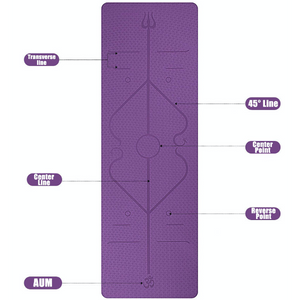 [spiritualism.1111] Yoga Mat with Position Line ( Buy 2 Get Extra 10% Off )