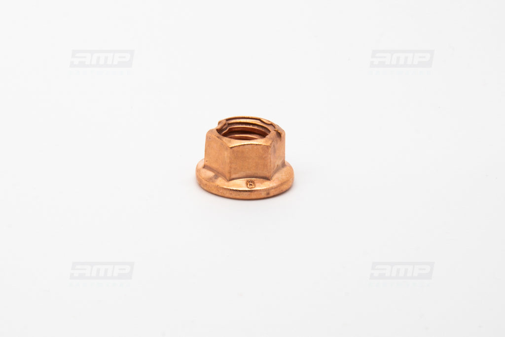 Nut flanged mb. copper M8