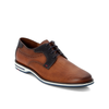 DIJAN EMBOSSED LEATHER LACE UP SHOE BROWN