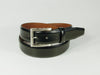 Leather belt with Nickle finished buckle Black